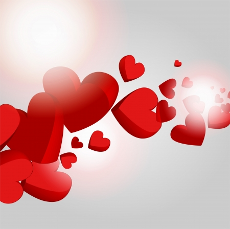 Vector background with hearts. Stock Vector - 19308056