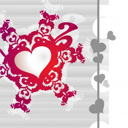 Vector background with heart. Vector