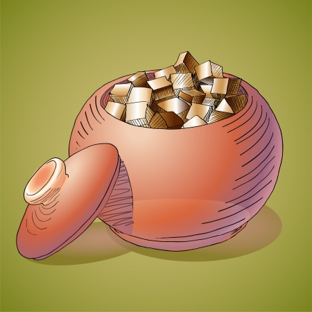 Vector illustration of a sugar bowl. Stock Vector - 19331010