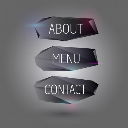 Vector black web buttons Illustration