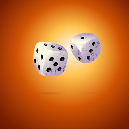 Two dices on brown background Stock Vector - 19330976