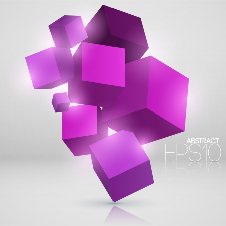 Vector abstract background with cubes Vector