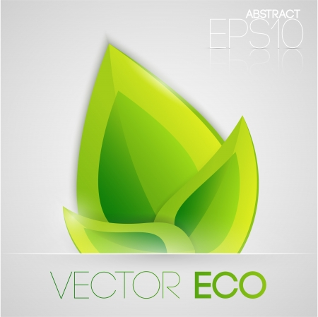 Vector eco leaves Stock Vector - 19331080