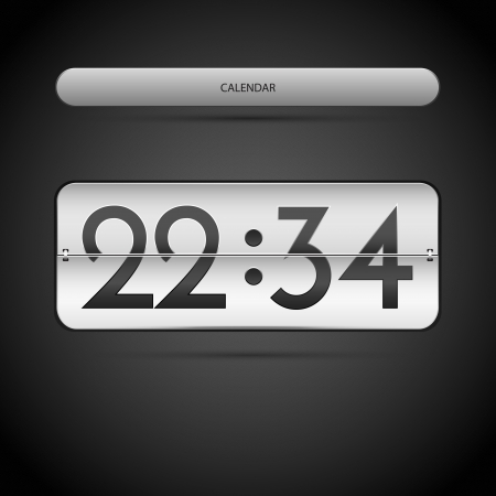 Countdown �ounter. Vector illustration. Vector