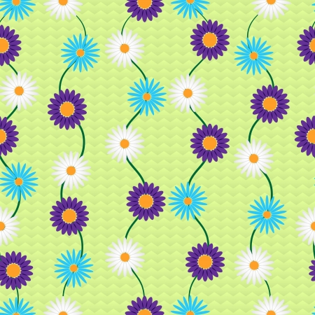 Vector background with flowers.  Vector