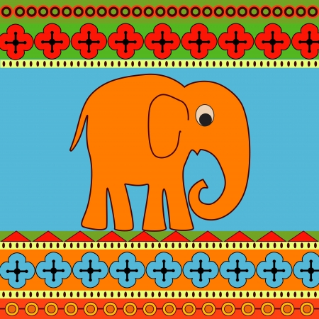 Vector background with elephant. Vector