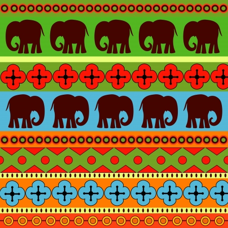 Vector background with elephants. Vector