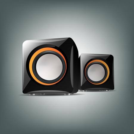 Two audio speakers. Vector illustration. Stock Vector - 19347103