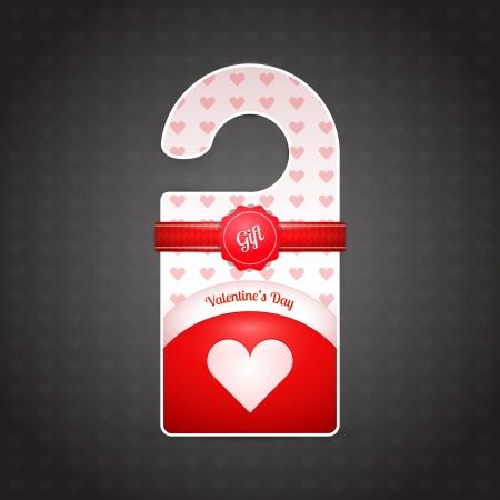 Valentine day door hangers. Vector illustration. Vector