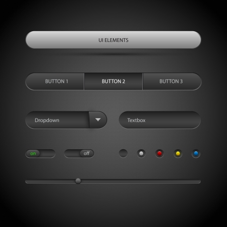 Ui elements. Vector illustration.