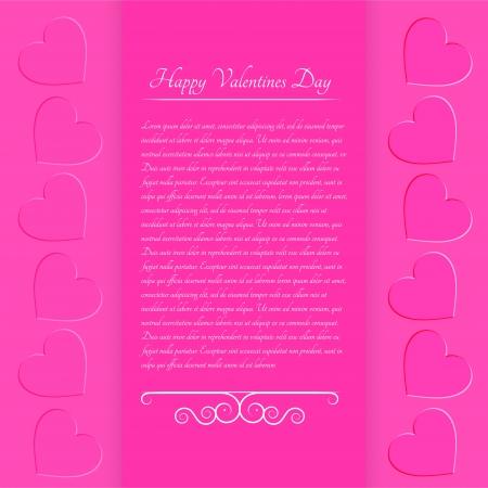 Pink valentine background  Stock Vector - 19347142