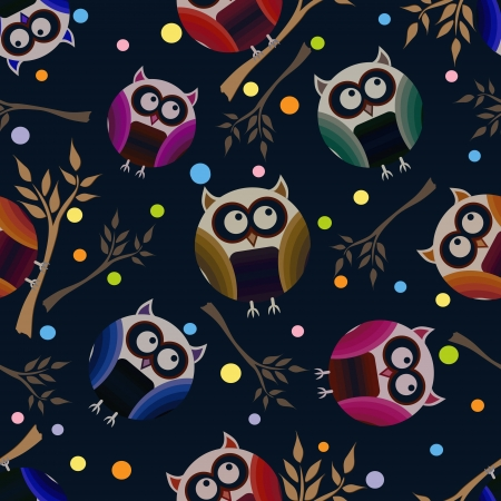 Vector background with owls Vector
