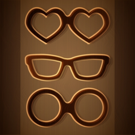 Vector set of glasses Stock Vector - 19347321