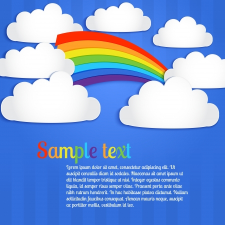 Vector background with rainbow Stock Vector - 19347323