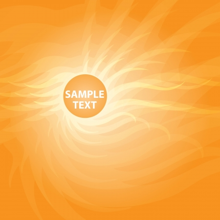 Orange sunny abstract background. Vector