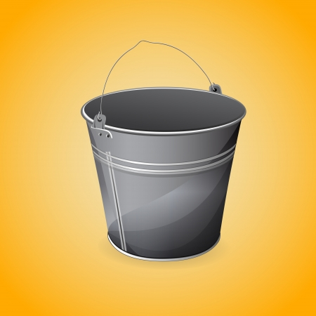 Vector illustration of bucket. Vector