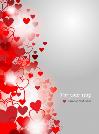 Valentines Day background - vector illustration Stock Vector - 19437525