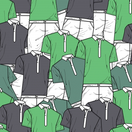 Vector background with polo t-shirts Vector
