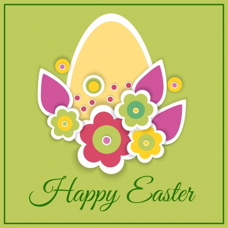 Happy Easter Card - Vector Illustration Vector