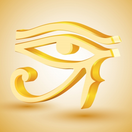 Gold eye of Horus Vector