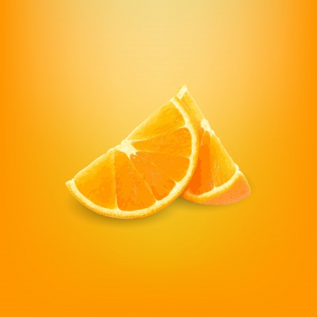Vector slice fresh orange.  Vector