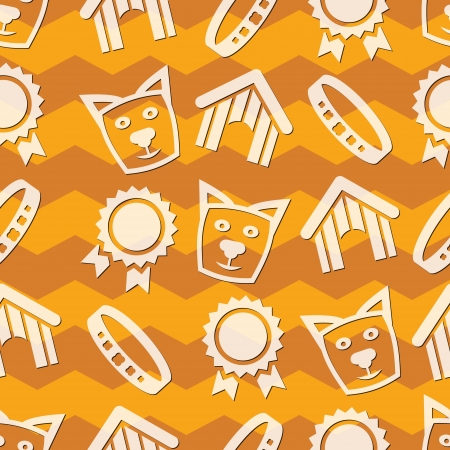 Collection of pet care icons - vector dogs Vector