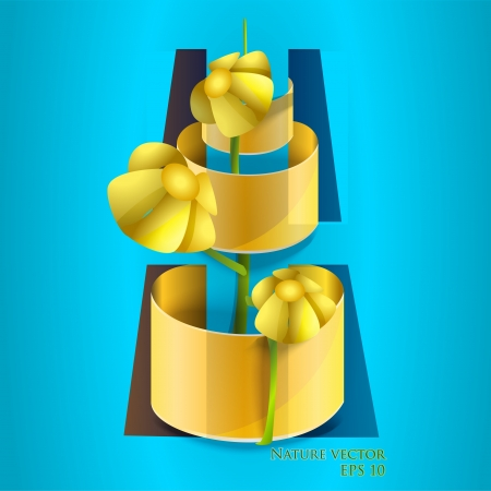 Vector illustration of flower in pot. Vector