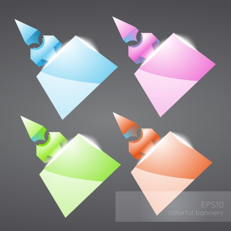 Abstract colored banners. Vector illustration. Vector