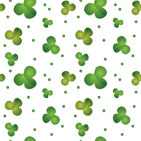 Green seamless clover pattern - vector background for St. Patrick's Day Vector