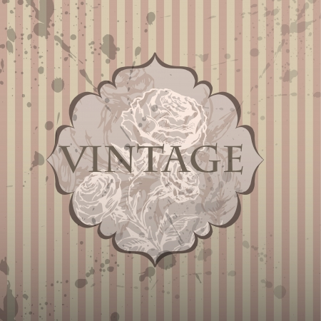 Vintage frame. Vector background. Vector