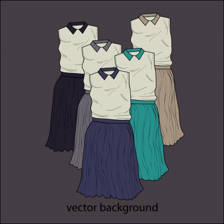 Vector background with dresses Vector
