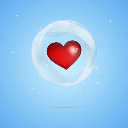 Vector illustration of a heart in bubble. Stock Photo - 19462997