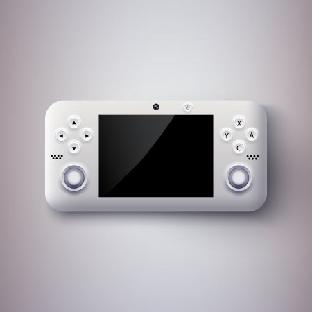Vector illustration of a game console. Stock Vector - 19466366