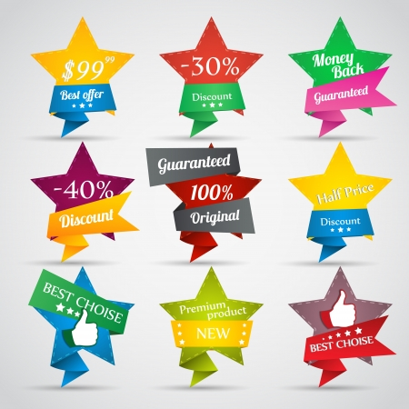 Collection of sale stars Vector