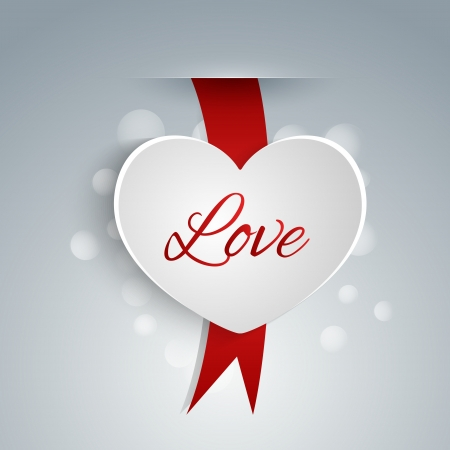 Heart shaped label for Valentines day Vector
