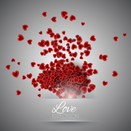 Valentine's day background with hearts Stock Vector - 19466277