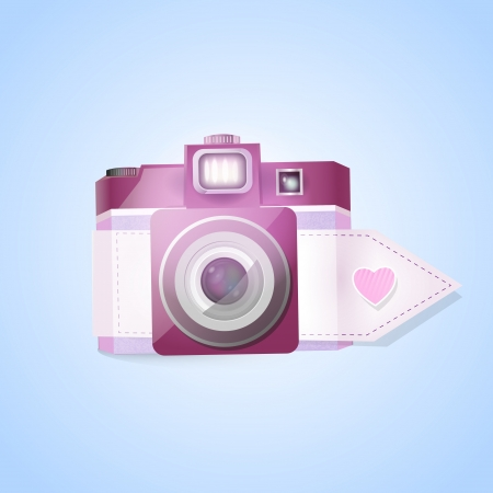 Vector photo camera for valentine's day Stock Vector - 19466273