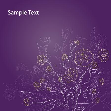 Excellent Purple Floral Background - Vector illustration Vector