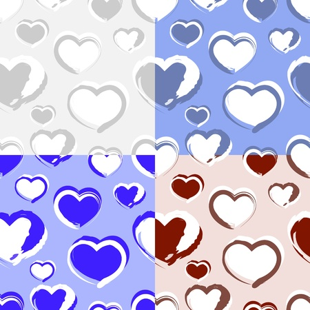 Vector background with hearts. Vector