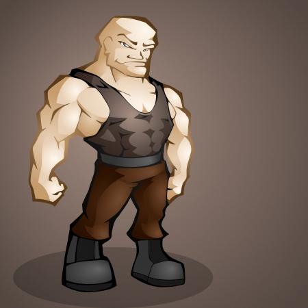 Muscular man. Vector illustration. Vector