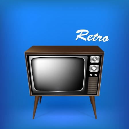 Retro tv. Vector illustration. Stock Vector - 19466242