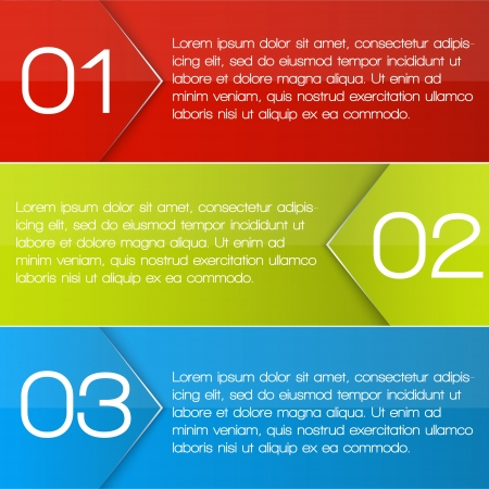 One two three options banners. Illustration