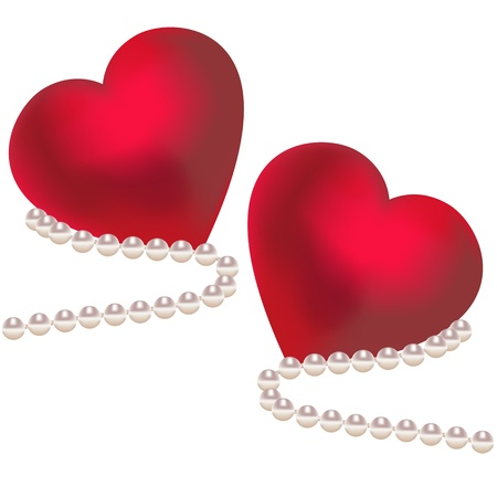 Valentine hearts vector illustration Stock Vector - 19555827