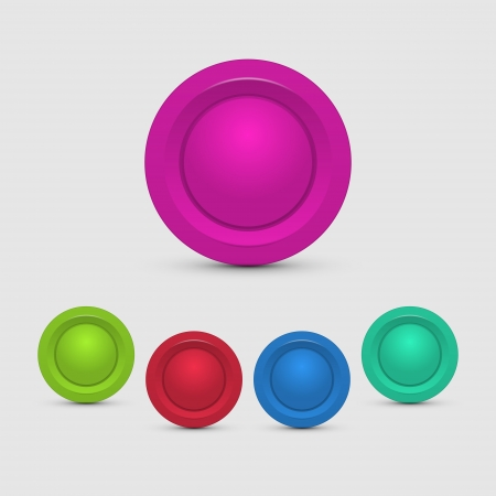 Set of colorful buttons Stock Vector - 19556133