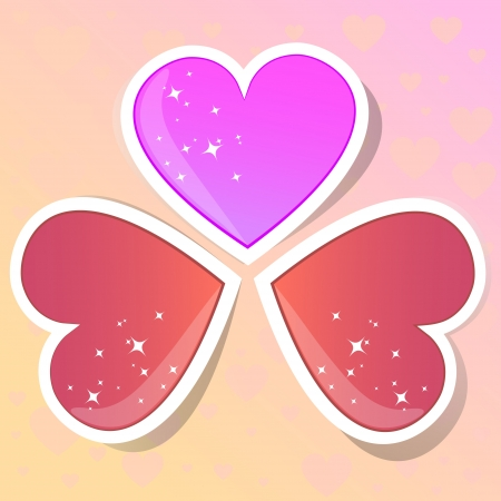 Valentine hearts vector illustration Stock Vector - 19555545