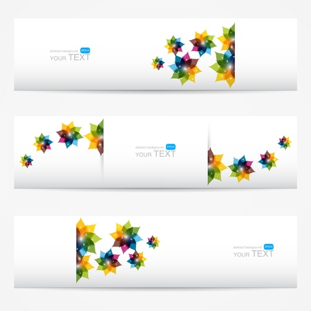 Collection of floral banners Stock Vector - 19556064