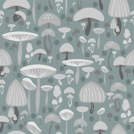 Mushrooms seamless pattern - vector illustration Stock Vector - 19556098