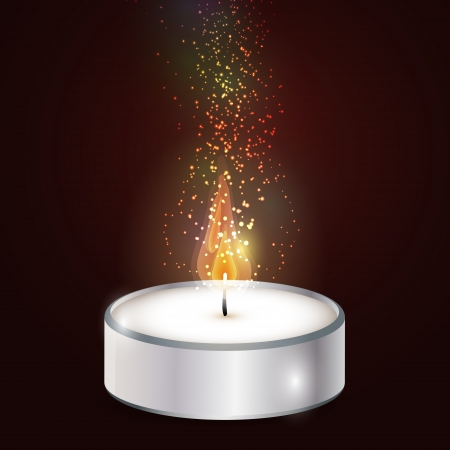 Vector illustration of candle  Vector