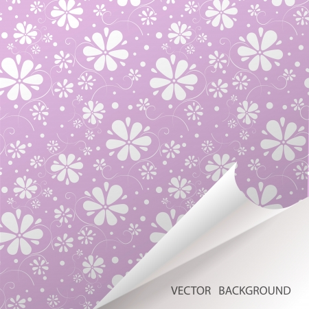 Abstract seamless background with flowers. Vector pattern Vector
