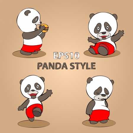 Panda on a gray background. concept. Vector